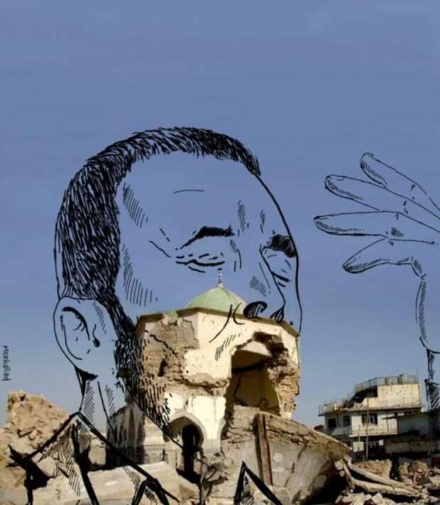 Герои мультфильмов на фоне иракской реальности
