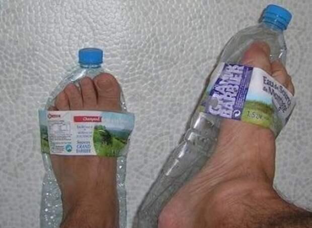 сандали из пластиковых бутылок