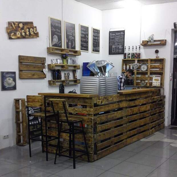 Магазин из паллет (подборка)