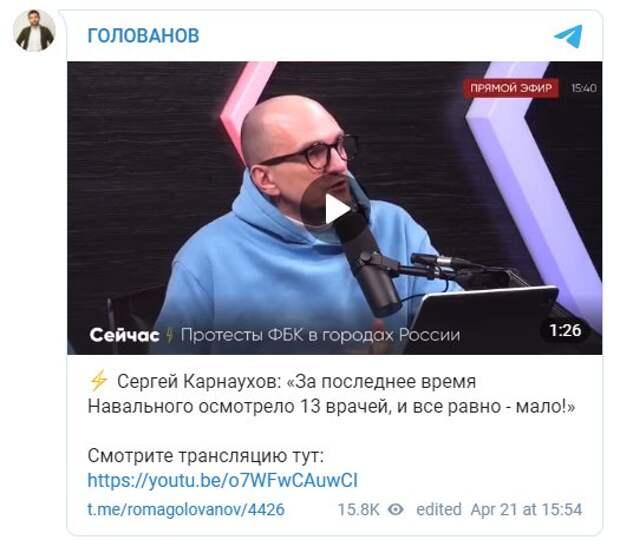 """Карнаухов предложил дать Навальному и Васильевой свидание: """"Может тогда этот кордебалет закончится?"""""""