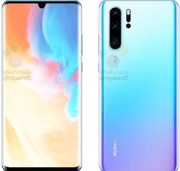Появились первые изображения нового смартфона от Huawei P30 Pro