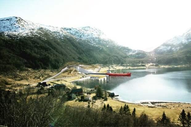 Как будет устроен первый мире подземный тоннель для кораблей в Норвегии