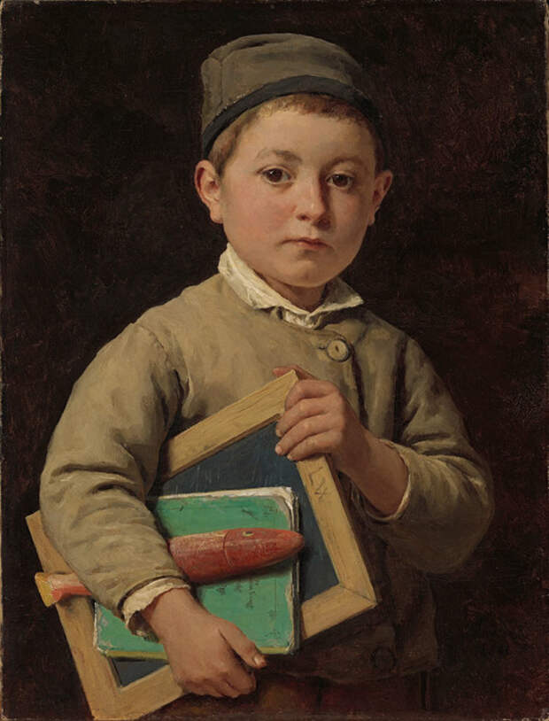 Альберт Анкер «Ученик», XIX век