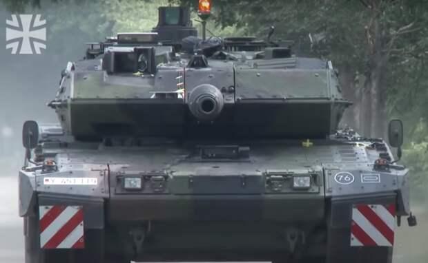 Испытания обновленного Leopard 2A7V сняли на видео в Германии
