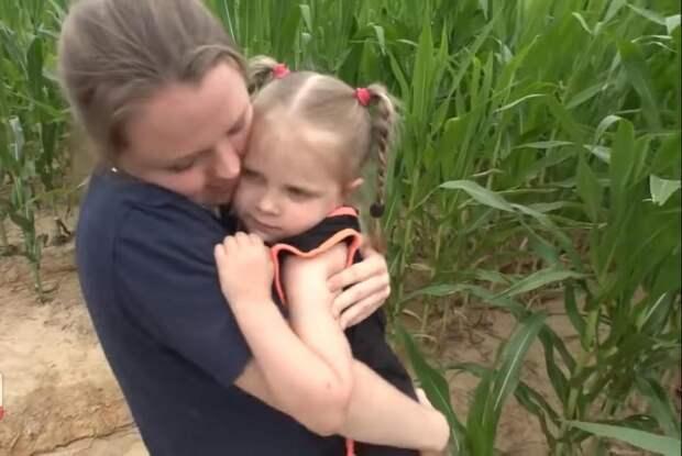 Спасатели почти сутки искали трехлетнюю девочку в кукурузном поле!