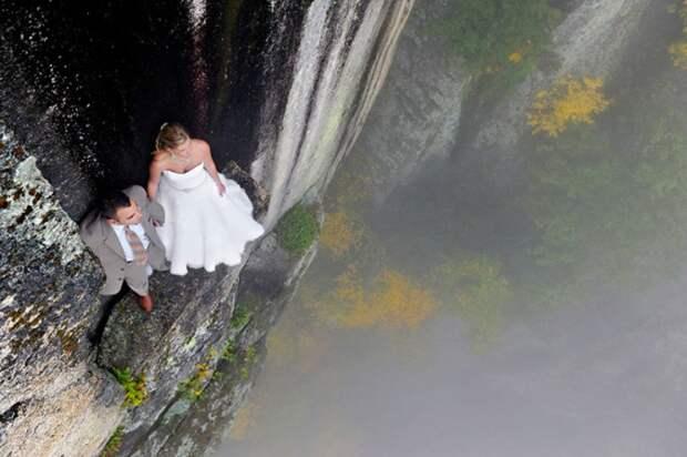 Экстремальные свадебные фотосессиил