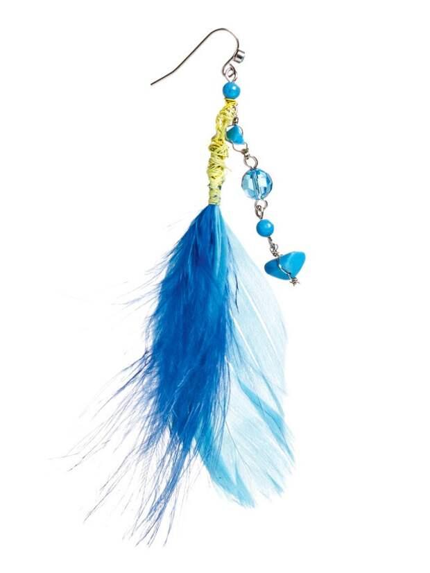 как украсить сумку перьями и сделать сережки