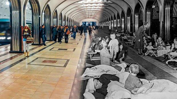 Что было в московском метро в Великую Отечественную (ФОТО)