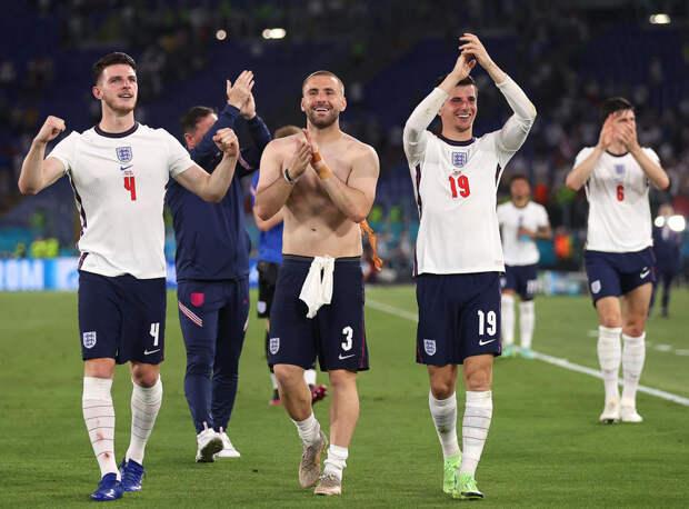 Сборная Англии сыграет в полуфинале Евро впервые с 1996 года