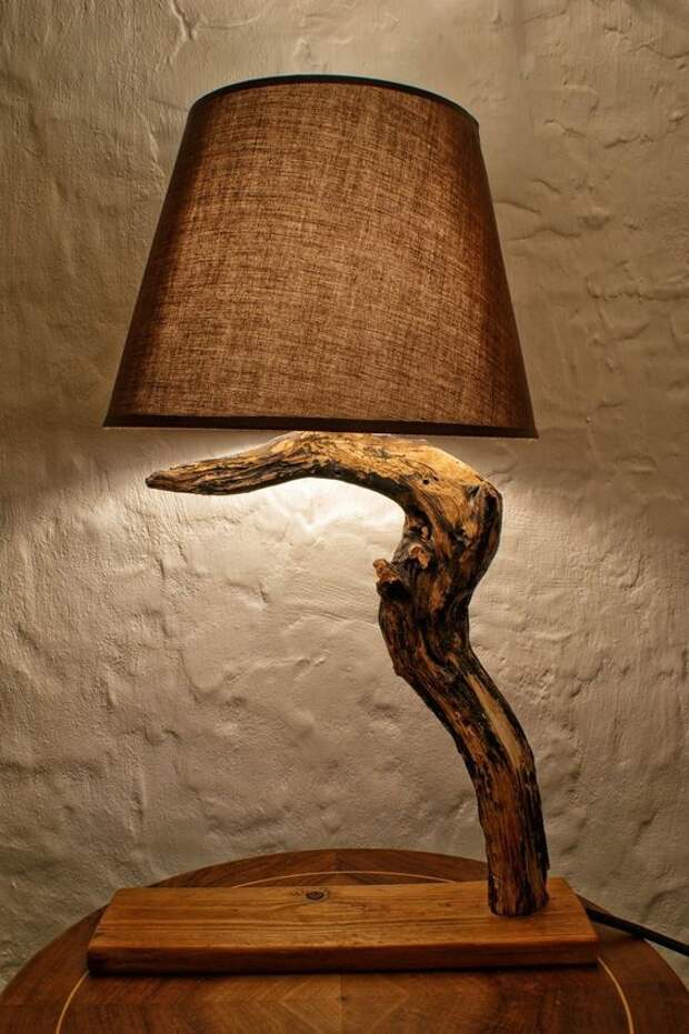 Лампы из коряг и палок (подборка)