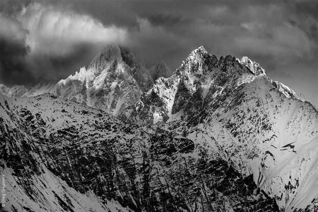 bnwmountains13 Черно белые фотографии гор
