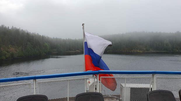 Остров Валаам укрыт туманом