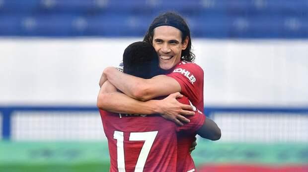 Дубль Фернандеша и дебютный гол Кавани принесли «Манчестер Юнайтед» победу над «Эвертоном»