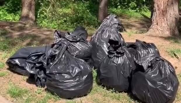 Активисты Подольска собрали 8 мешком мусора в ходе субботника у реки Рожай