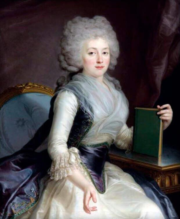 Портрет Ольги Александровны Жеребцовой (Зубовой), художник Жан Луи Вуаль, 1790 годы.
