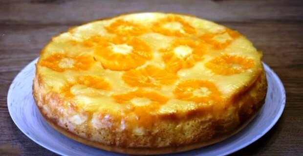 Мама научила готовить только так. Просто беру свежие мандарины и заливаю их тестом