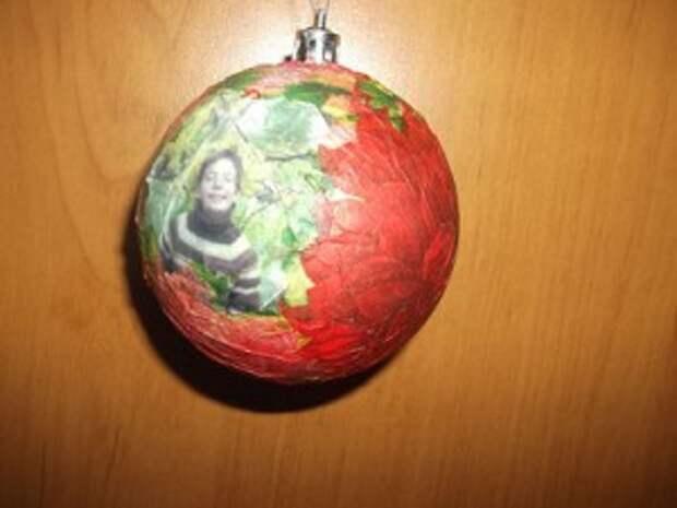 Новогодний шар с фото  ))))