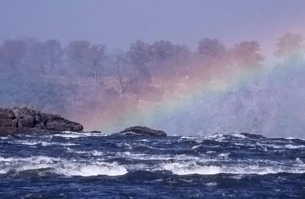 rainbow09 Радуга над самым большим водопадом в мире