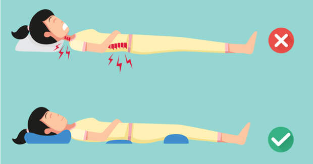 Здоровый сон: как спать, чтобы не болела спина?