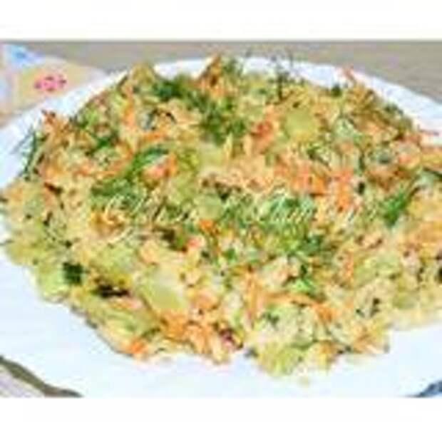 Кабачки с рисом в сметане