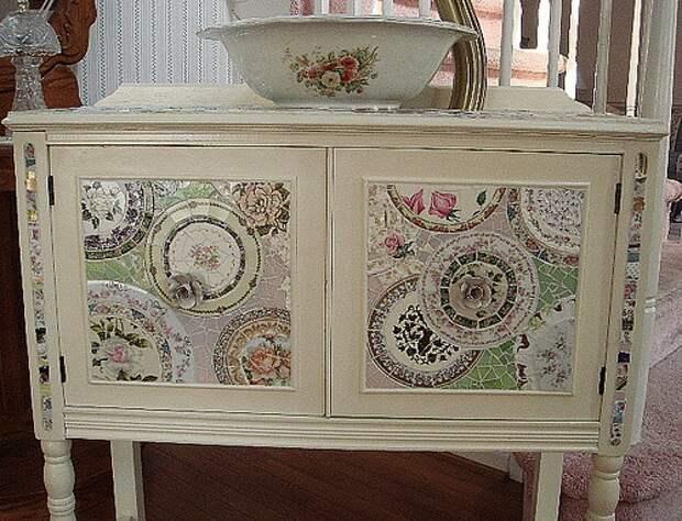 Мозаика из битой посуды (трафик)