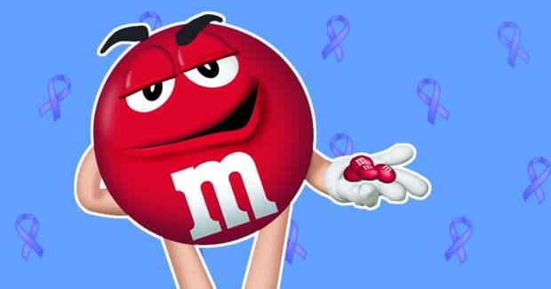 Почему в Америке 11 лет не выпускали красный M&M's