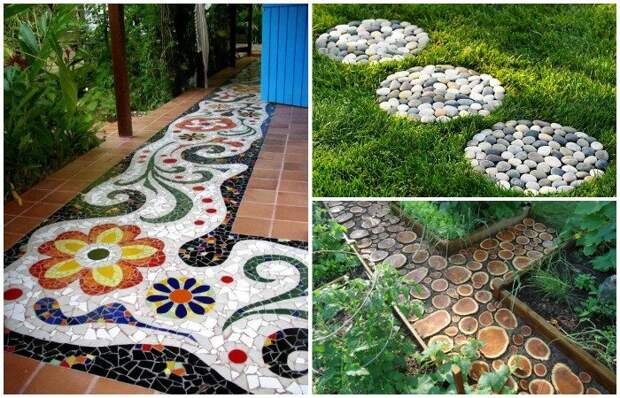Идеи красивых садовых дорожек. \ Фото: samodelkinoblog.com.