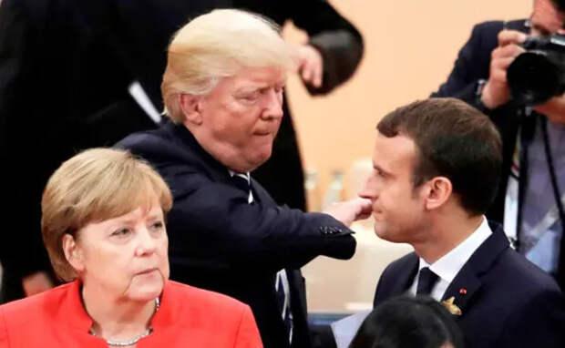 Трамп ходит Макроном