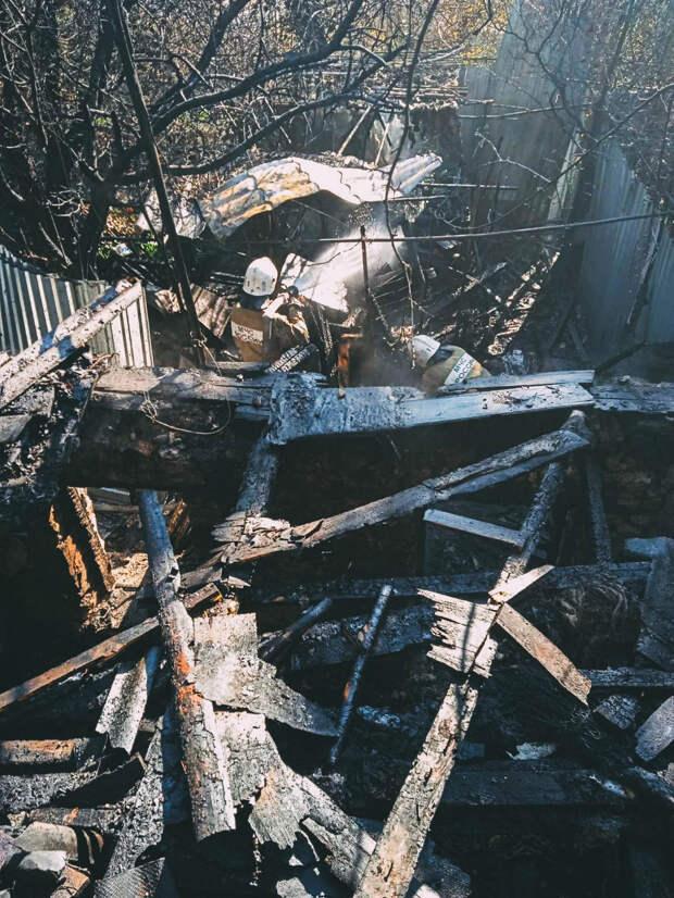 В Севастополе сгорел частный дом