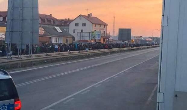 Тысячи украинцев пытаются прорваться через польско-украинскую границу