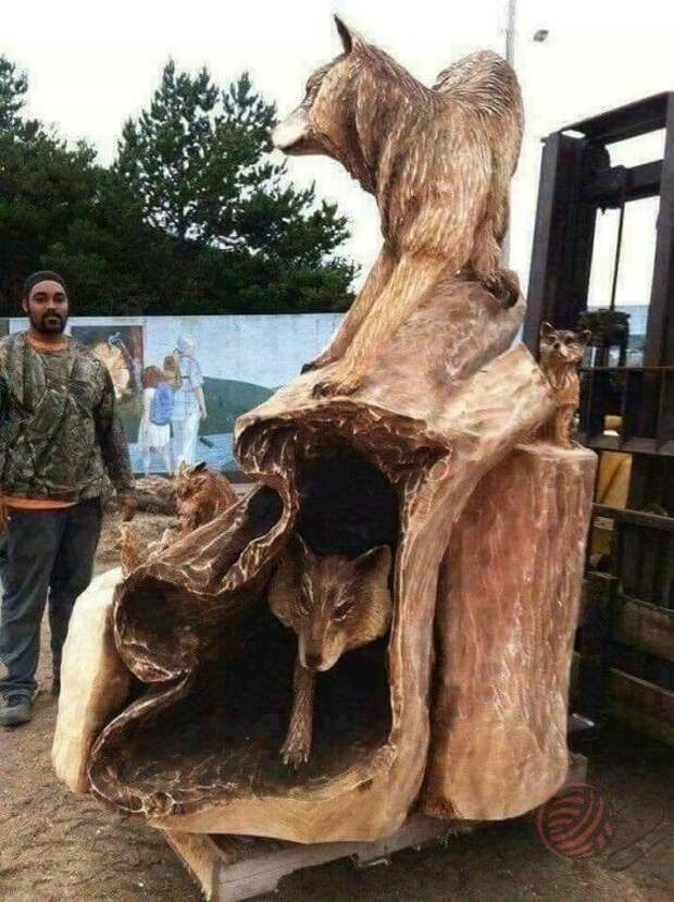 Красивая резьба по дереву! Какие люди бывают талантливые Cмотришь и поражаешься.