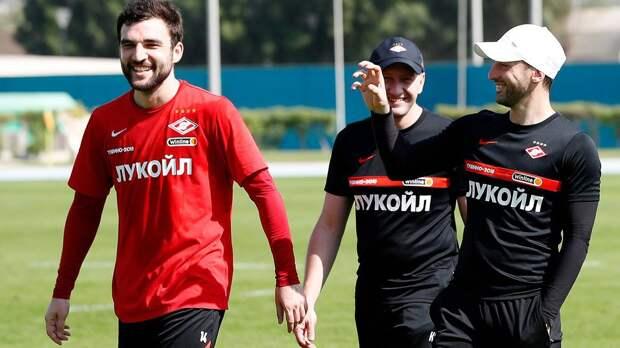 Джикия забил красивый гол с отрицательного угла на тренировке «Спартака»: видео