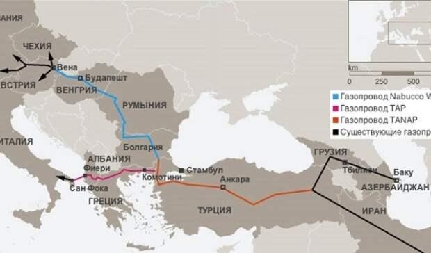 Баку надеется спомощью ЮГК найти новые рынки сбыта газа вЕвропе