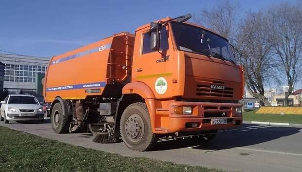 Подметально‑уборочные машины чистят 48 км дорог в Подольске за день