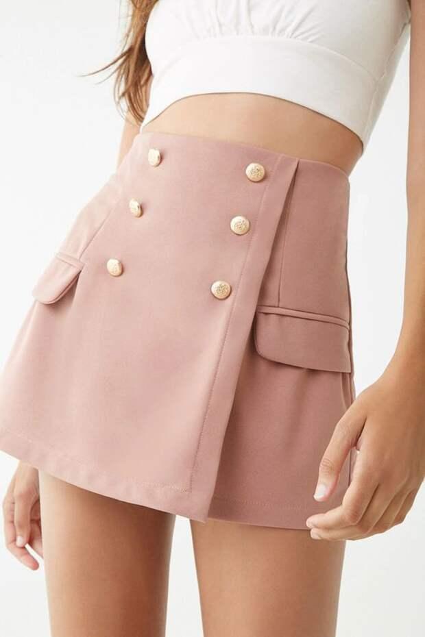 милитари юбка мини