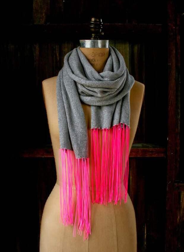 Вместо бахромы на шарфах (подборка)