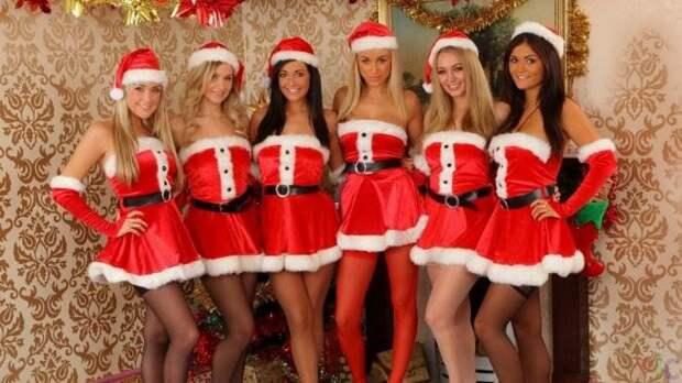 Новогодние девушки-красотки фото