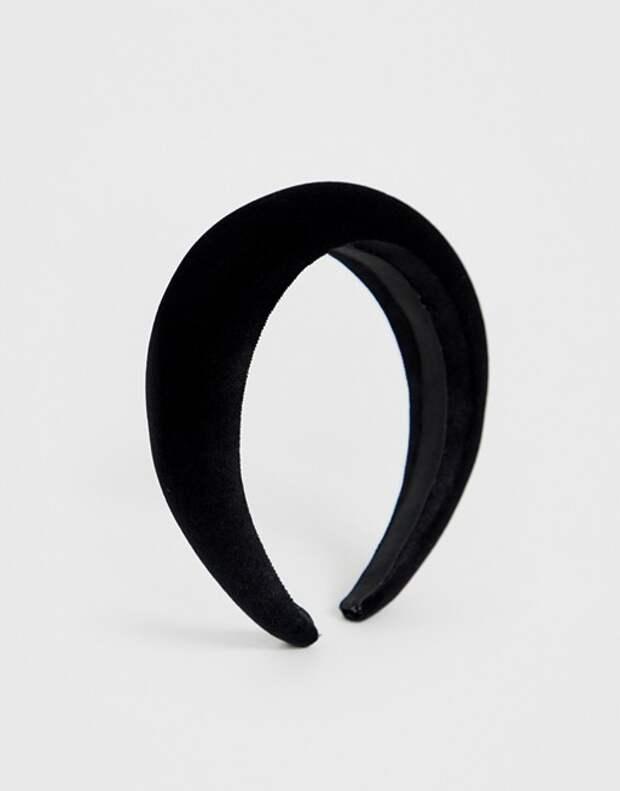 Черная бархатная повязка Asos Design