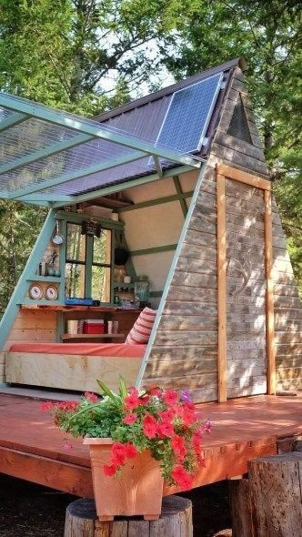 Дачные треугольные домики (подборка)