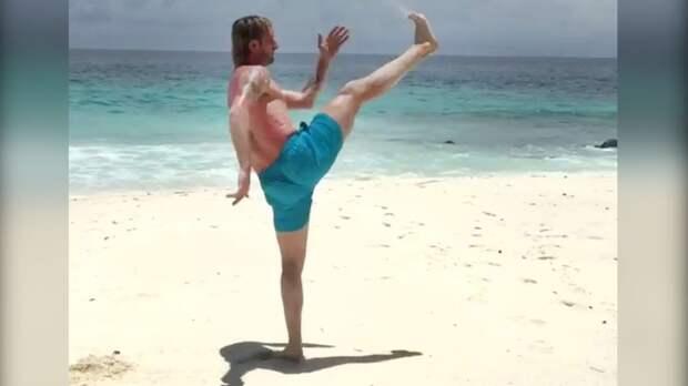 Плющенко показал тренировку напляже: «Все наспорт, атозасиделись надиванах!»
