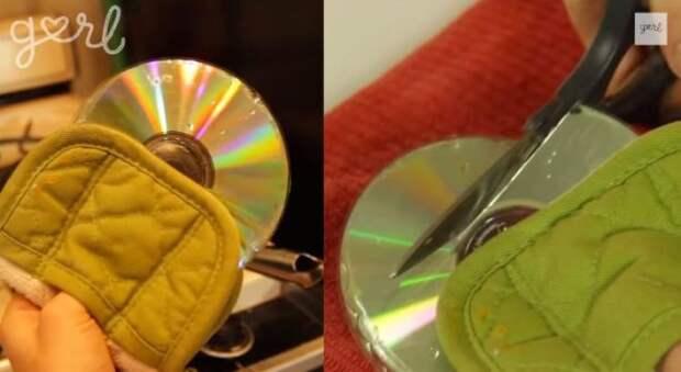 Мастерица  взяла старые компакт диски и опустила в кипяток. Взгляните, что из этого вышло!