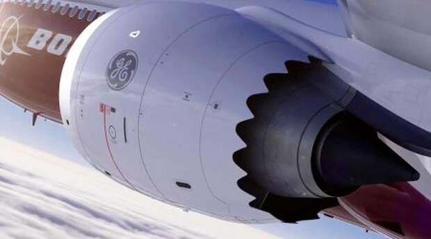Двигатель GE9X на крыле Boeing 777-9