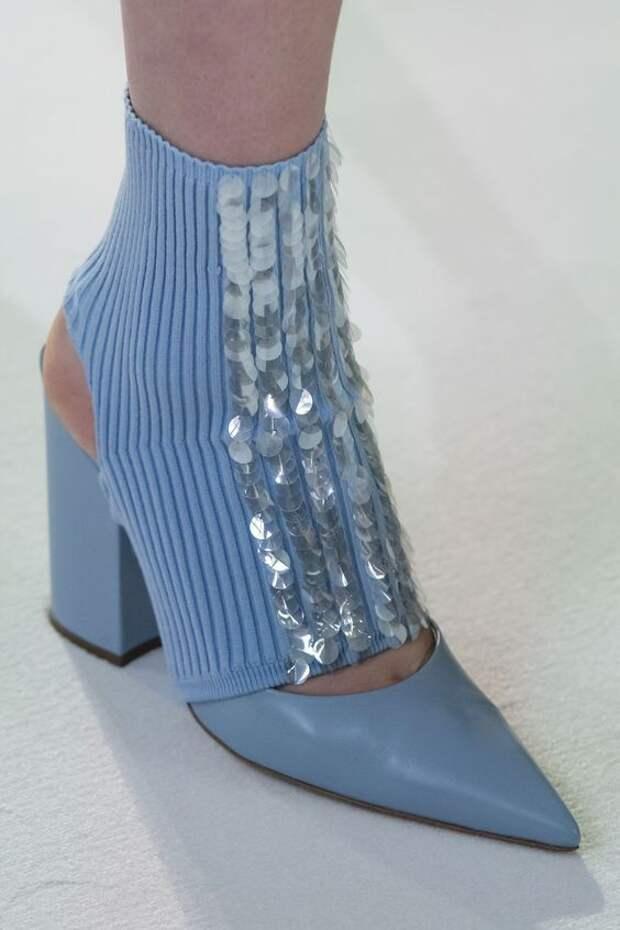 Носки-гетры с пайетками