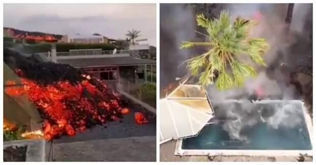 """La Palma: улицы и дома """"рая под открытым небом"""" неотвратимо съедает """"геенна огненная"""""""