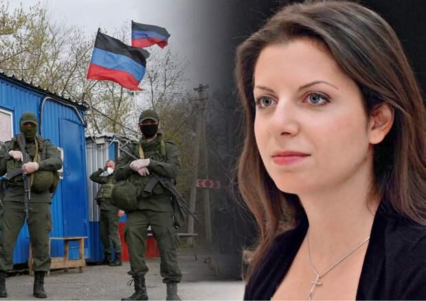 Симоньян предложила России «неотвратимый ответ» на санкции Байдена через Донбасс