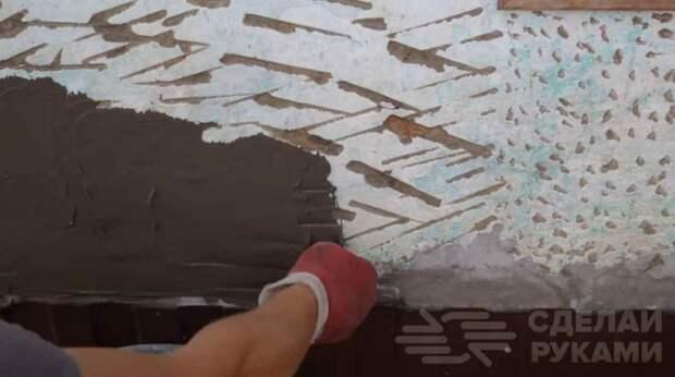 Как сделать декоративную штукатурку (шубу) из плиточного клея