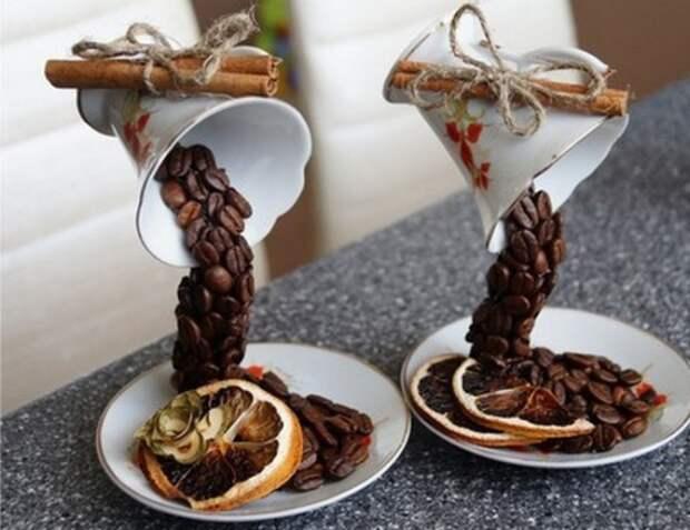 Как сделать топиарий из кофе