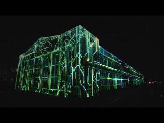 Дрон-шоу от Intel на презентации электрического внедорожника от Audi
