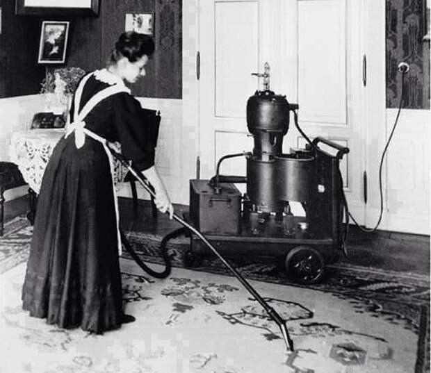 Один из первых пылесосов - «Elmo» производства компании «Siemens», 1906 год знаменитости, исторические фотографии, история, редкие фотографии, фото