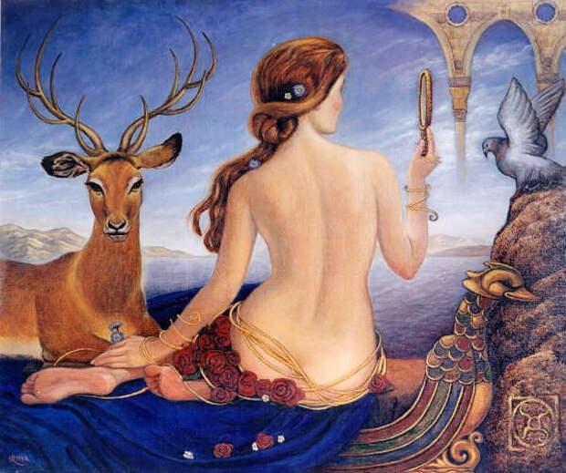 Обнаженная натура в изобразительном искусстве разных стран. Часть 112.